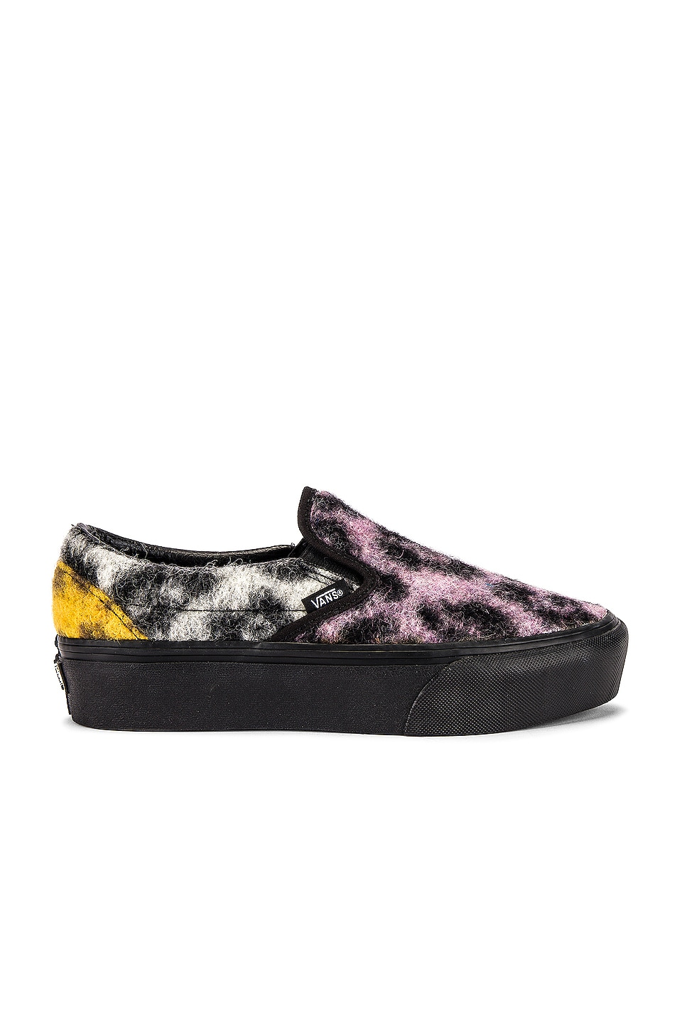 Vans Classic Slip-On Platform en Multi & Black