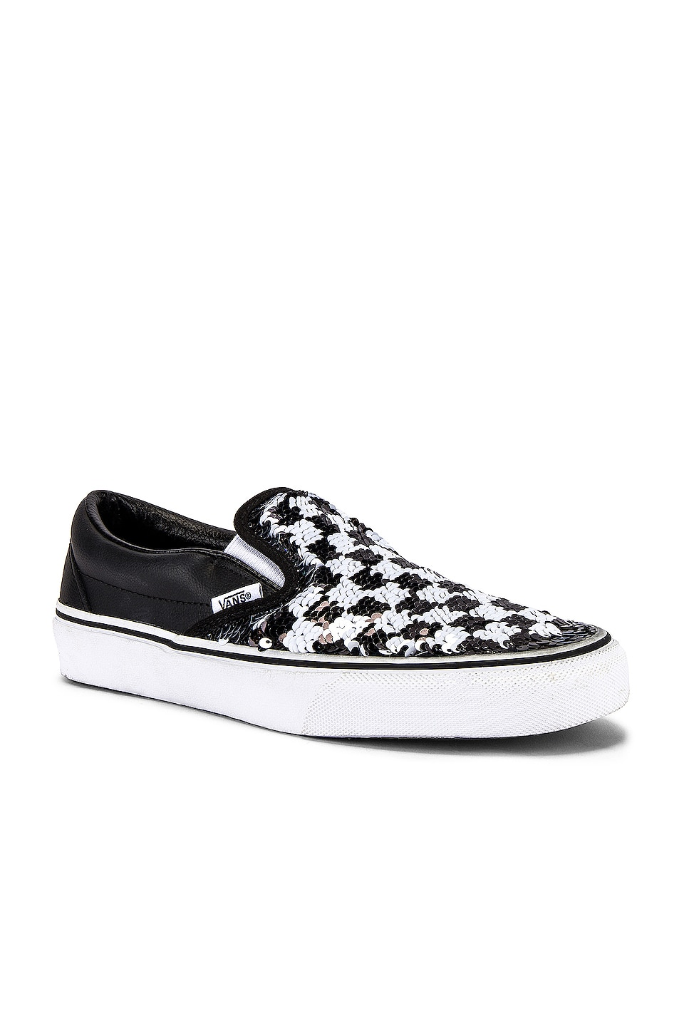 Vans Classic Slip-On in Checkerboard & Black
