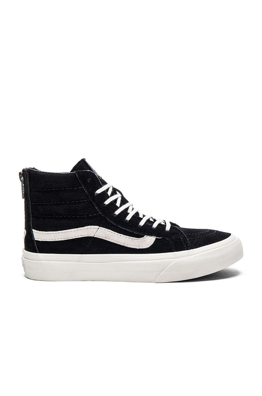 Vans SK8-Hi Slim Zip Sneaker in Black & Blanc de Blanc