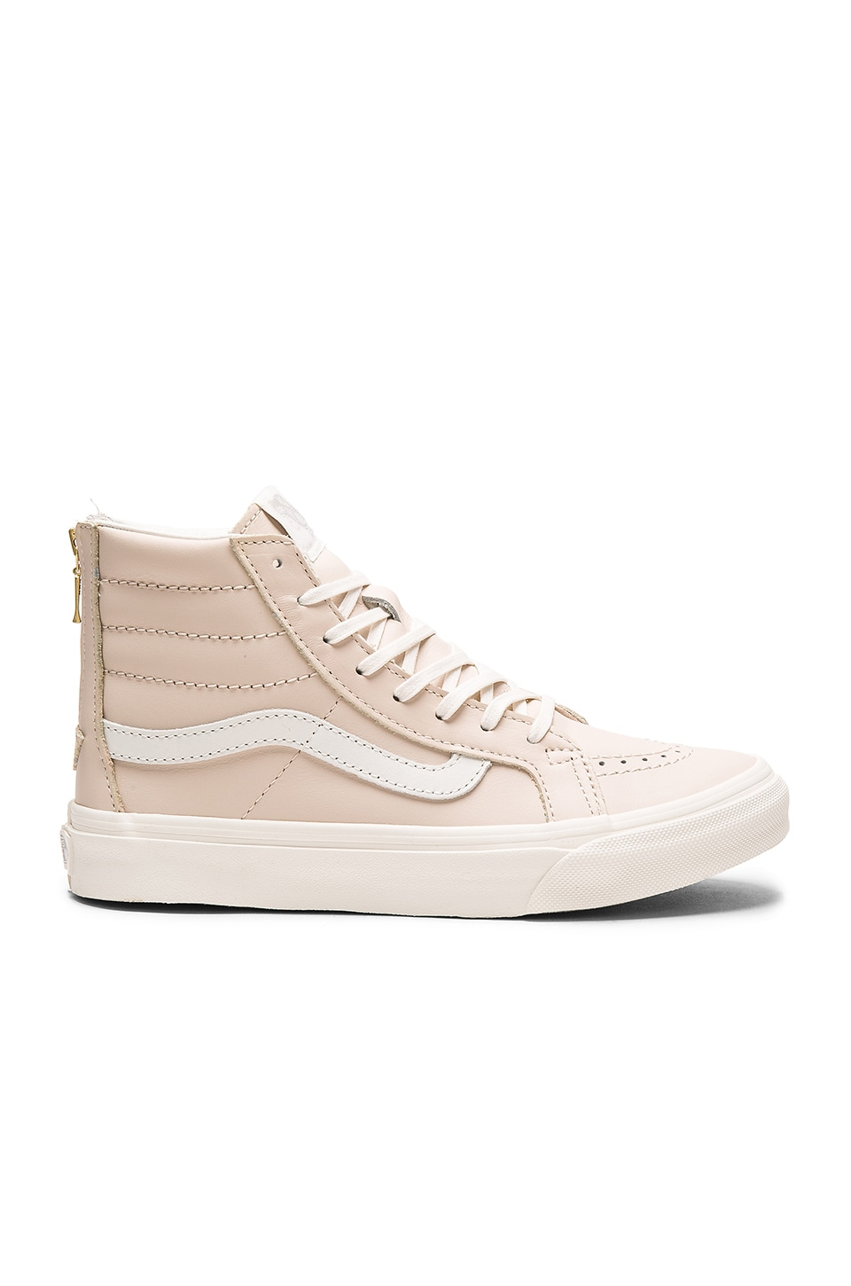Leather Sk8 Hi Slim Zip Sneaker