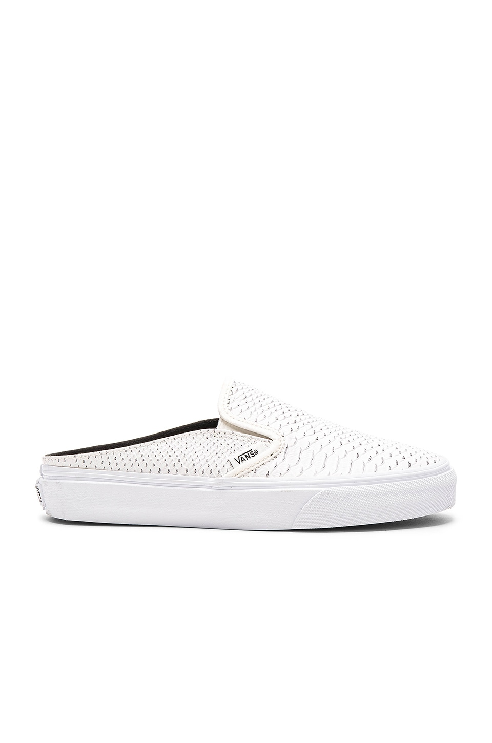 9228ff2917 Vans Embossed Python Classic Slip-On Mule in White   True White ...