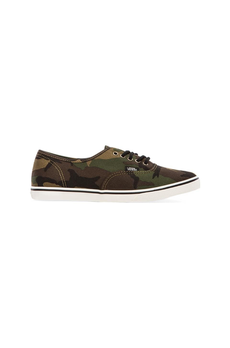Vans Authentic Lo Pro Sneaker in Military Olive & Marshmallow