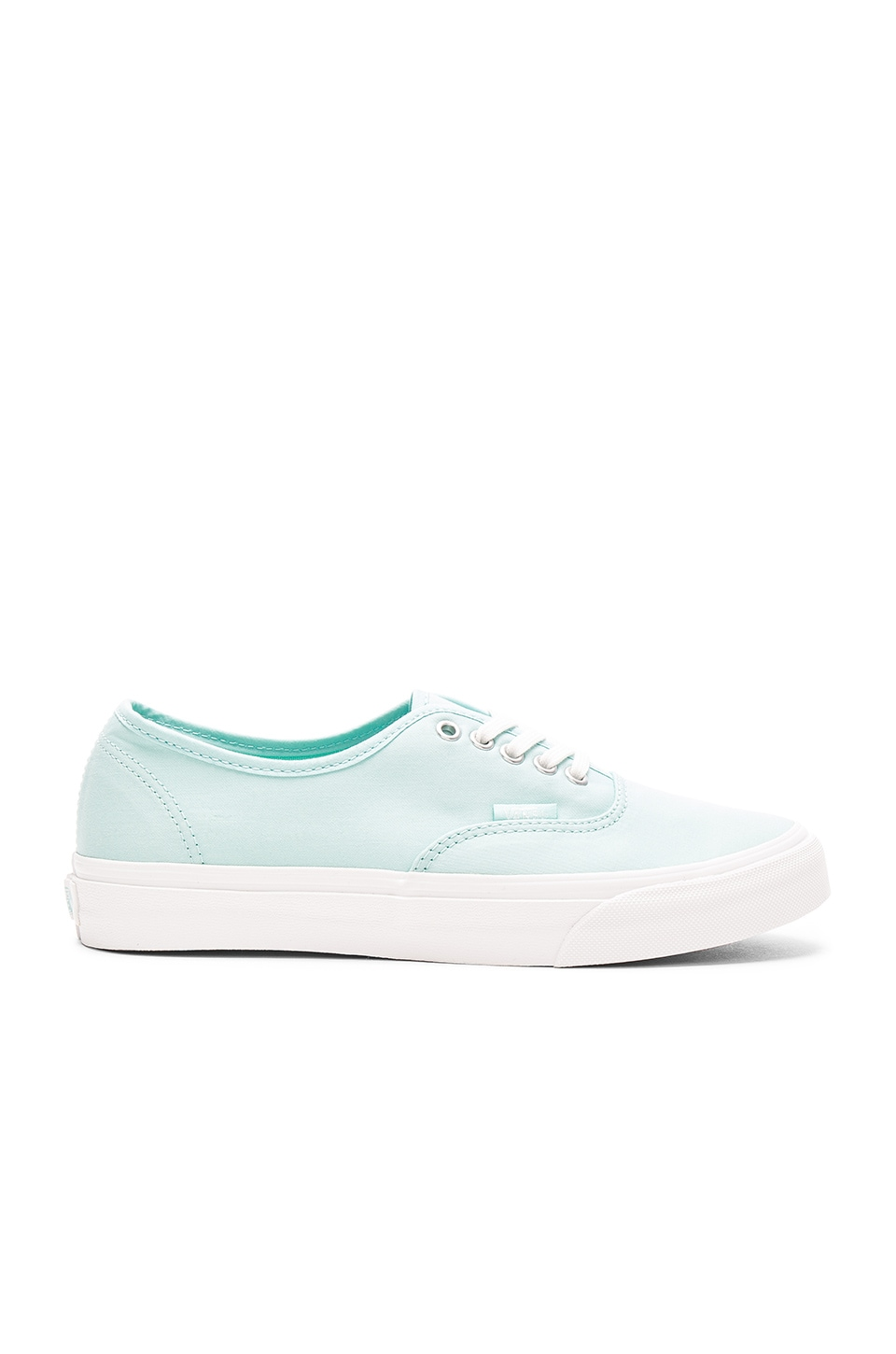 Vans Brushed Twill Authentic Slim Sneaker in Blue Light & Blanc de Blanc