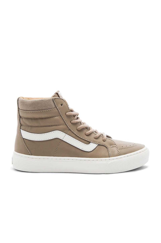 Vans SK8-HI Cup Sneaker in Desert Taupe & Blanc De Blanc