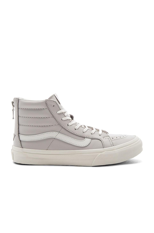 Vans SK8-Hi Slim Zip Sneaker in Chime & Blanc De Blanc