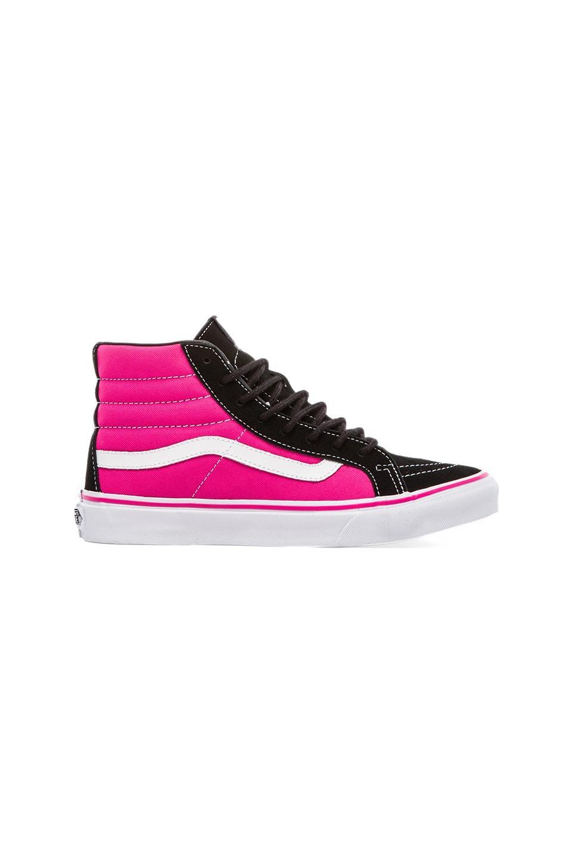 Vans Sk8-Hi Slim Sneaker in Black & Pink Glo