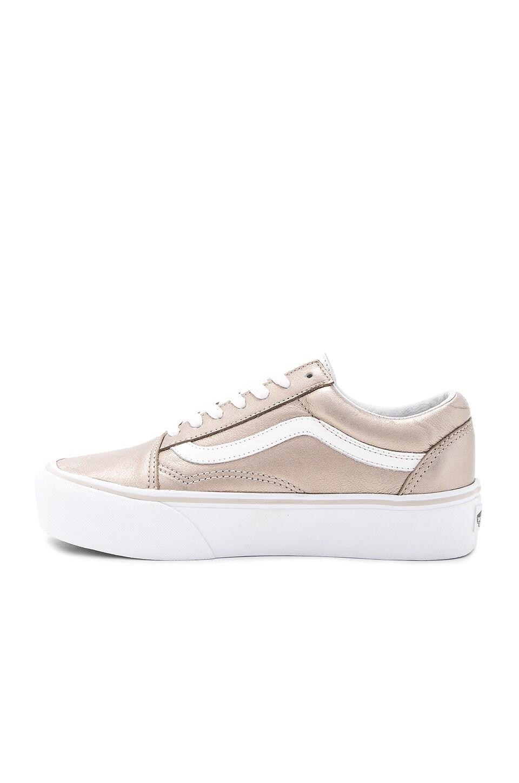 vans old skool platform sneaker gray gold true white modesens. Black Bedroom Furniture Sets. Home Design Ideas