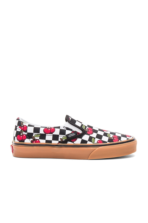11eecf67a4 Vans Cherry Checker Classic Slip-On in Black   Gum