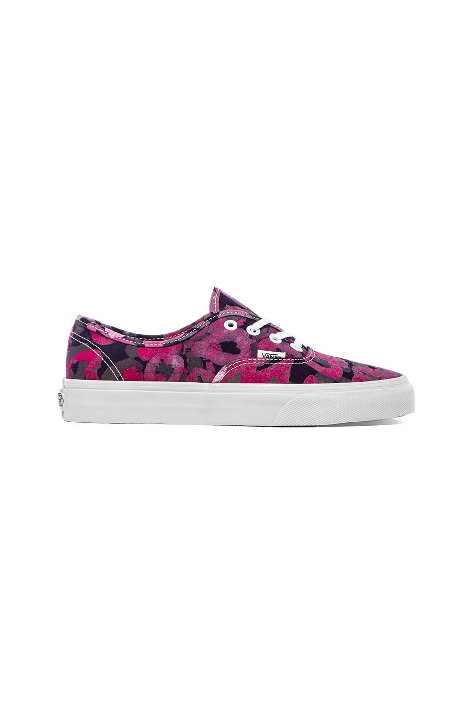 Vans Authentic Sneaker in Batik & Pink