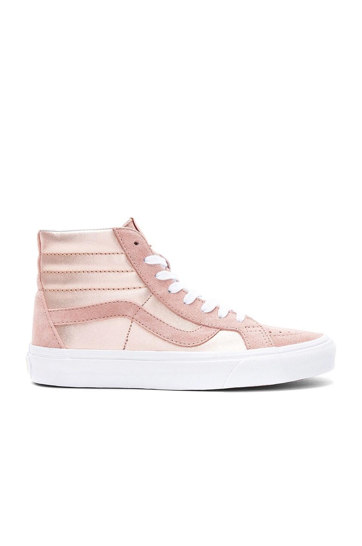 Vans 2-Tone Metallic Sk8-Hi Reissue Sneaker in Mahogany Rose   True White c24b9d5b5