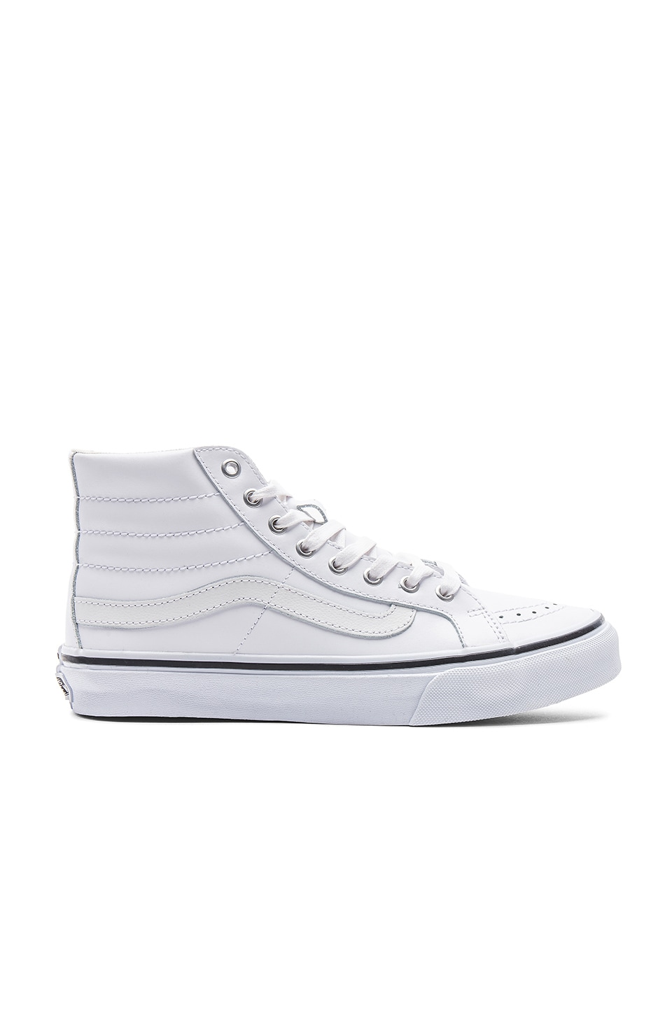 Vans Shine Sk8-Hi Slim Sneaker in True White