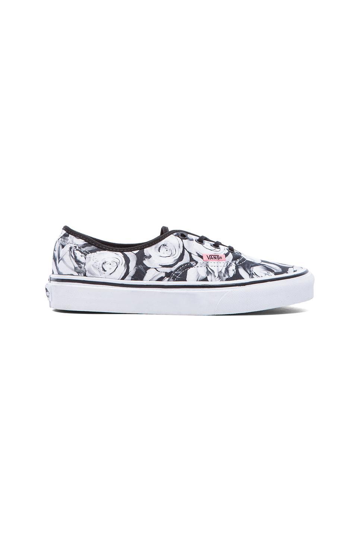 Vans Authentic Sneaker in Black & True White