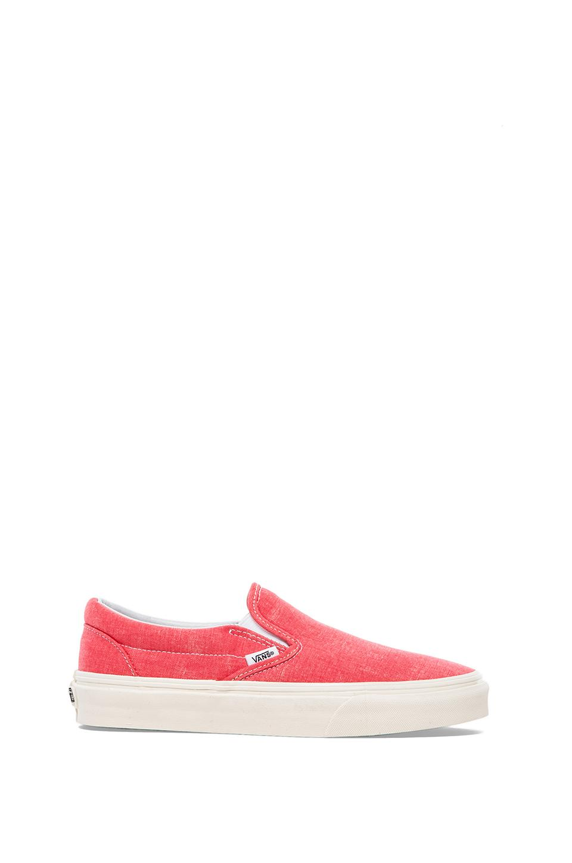Vans Classic Slip-On Sneaker in Hot Coral