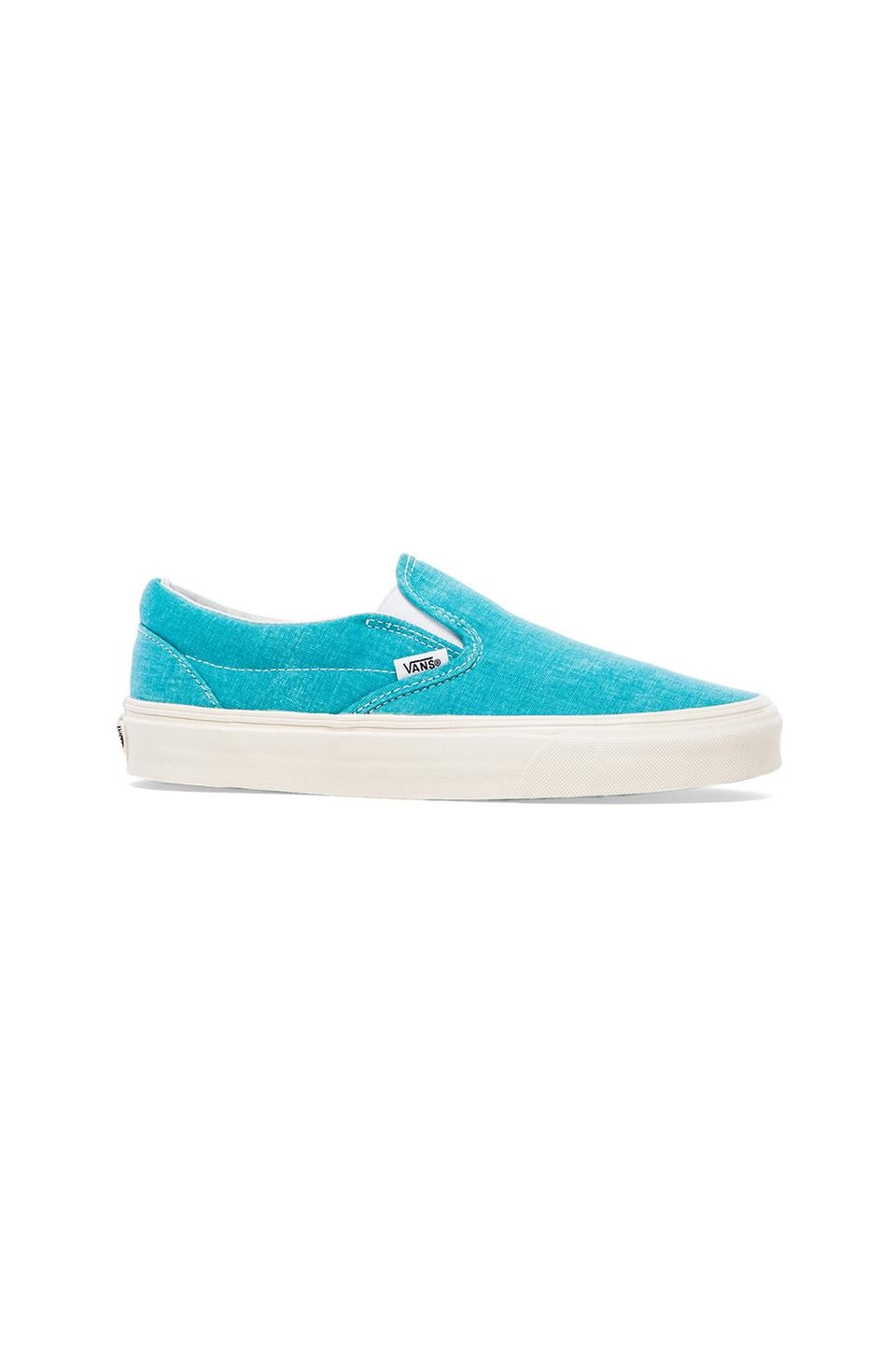 Vans Classic Slip-On Sneaker in Peacock Blue