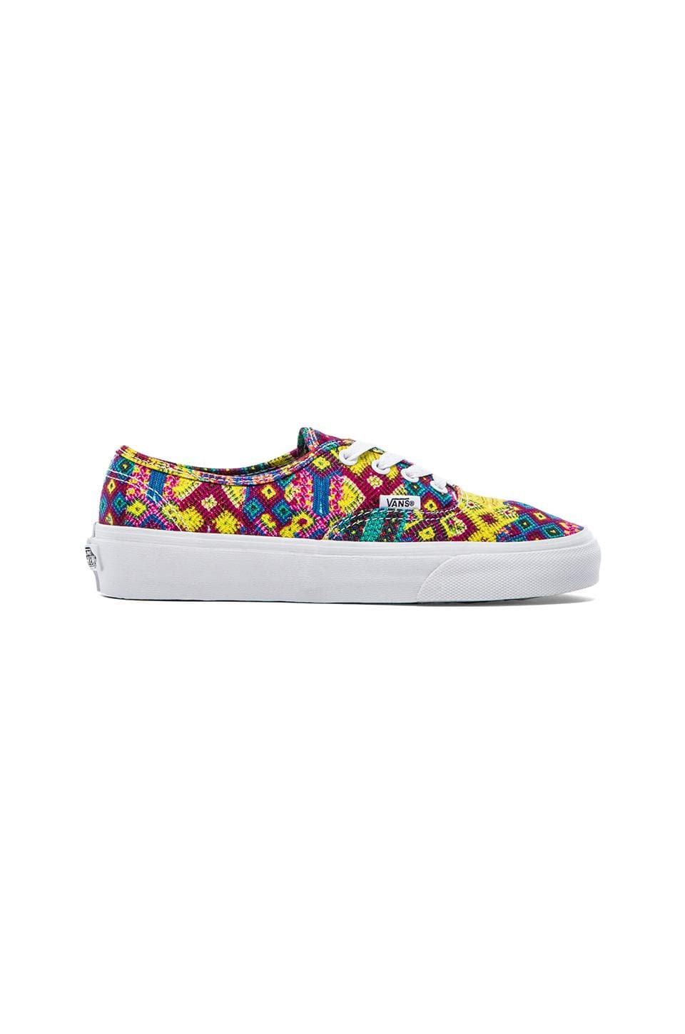 Vans Authentic Sneaker in Multi & True White