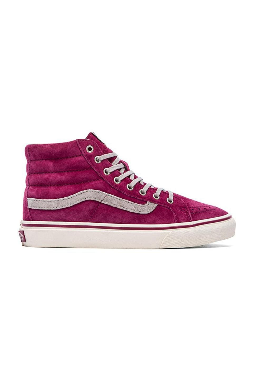 Vans SK8-Hi Slim Sneaker in Wine & Marshmallow