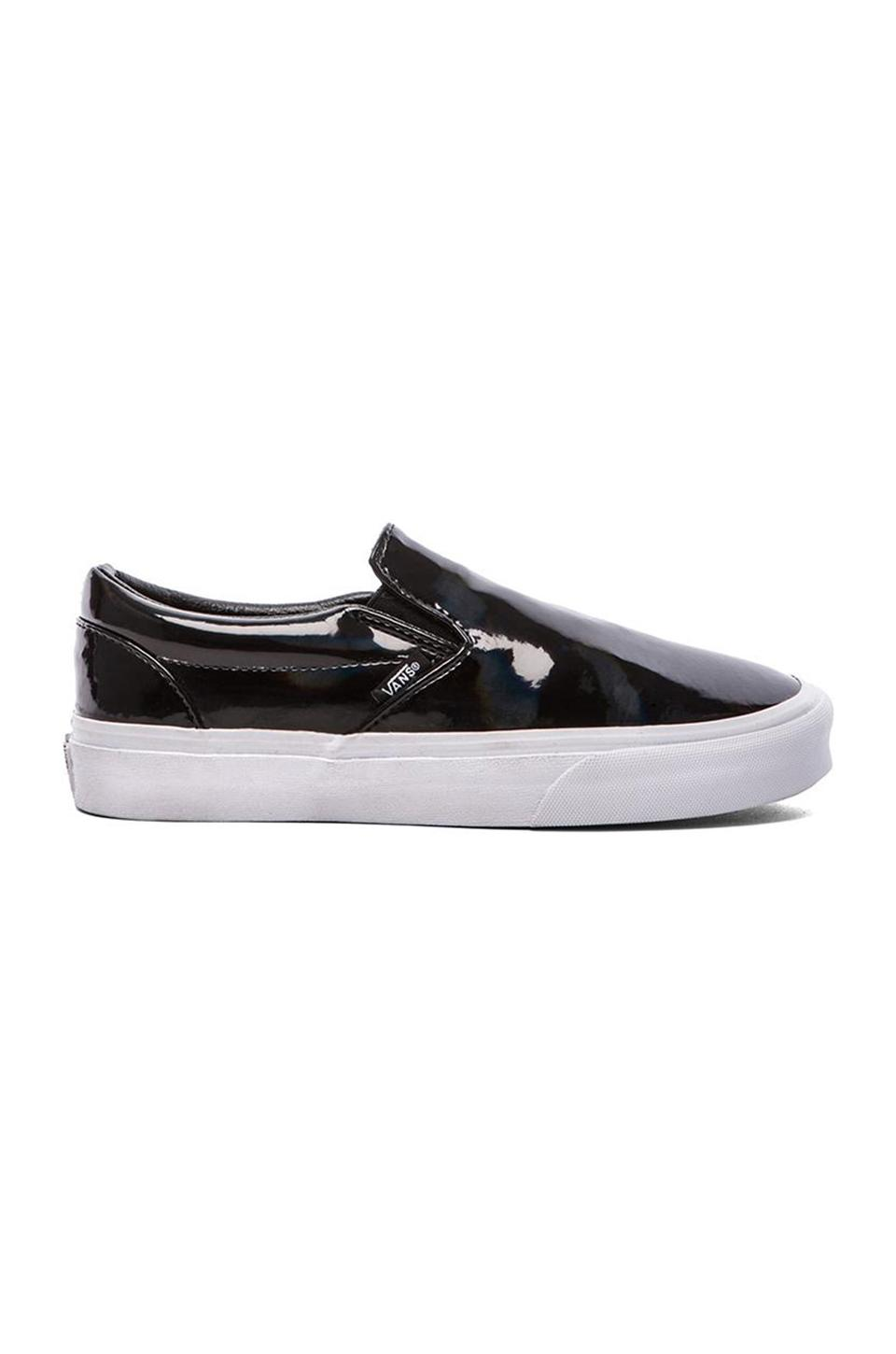 Vans Classic Slip-On in Black Patent