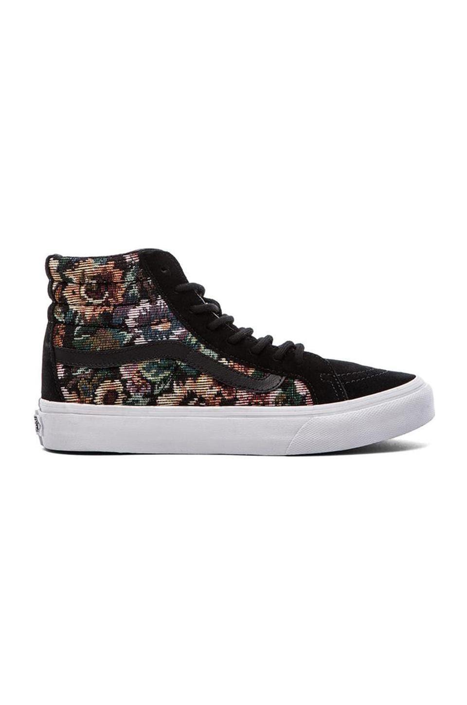 Vans SK8-Hi Slim Sneaker in Black Floral