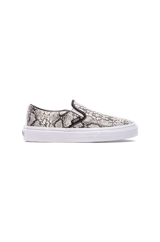 Vans Classic Slip On in Silver Snake