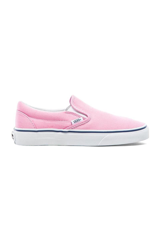 Vans Classic Slip On Sneaker in Prism Pink & True White