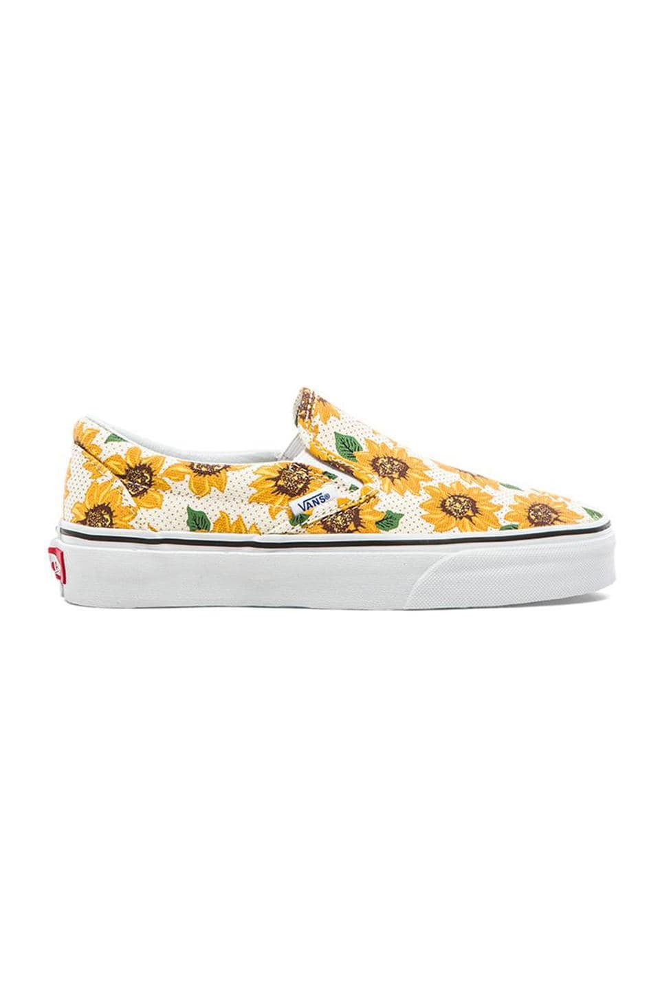Vans Classic Sunflower Slip On in True White