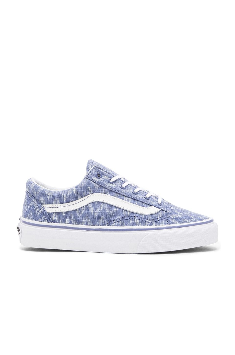 Vans Old Skool Denim Chevron Sneaker in Blue & True White