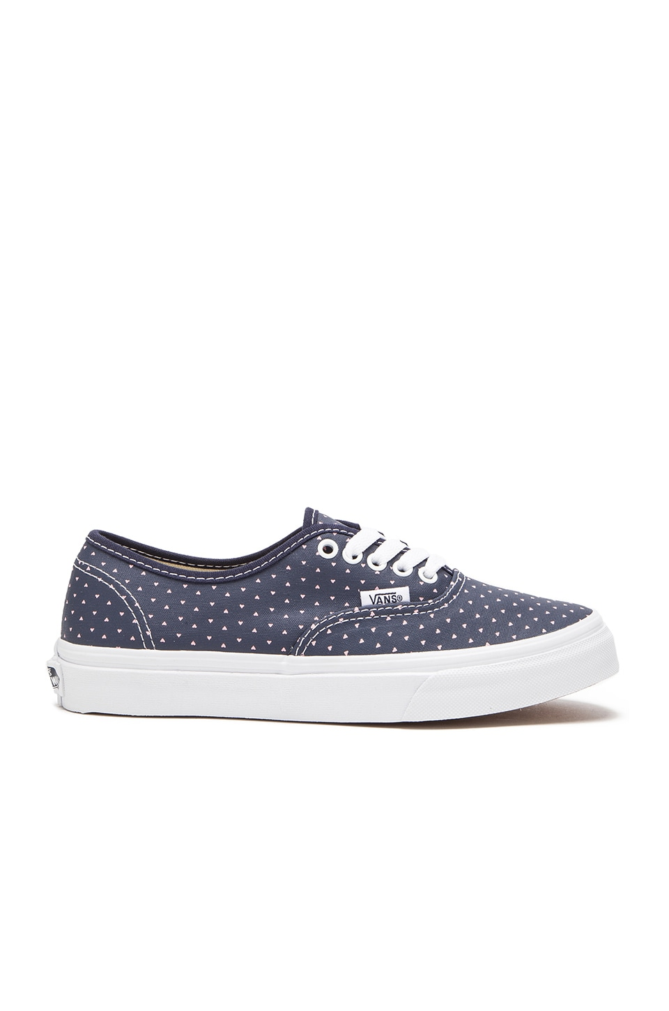 Vans Authentic Slim Micro Hearts Sneaker in Dress Blue & True White