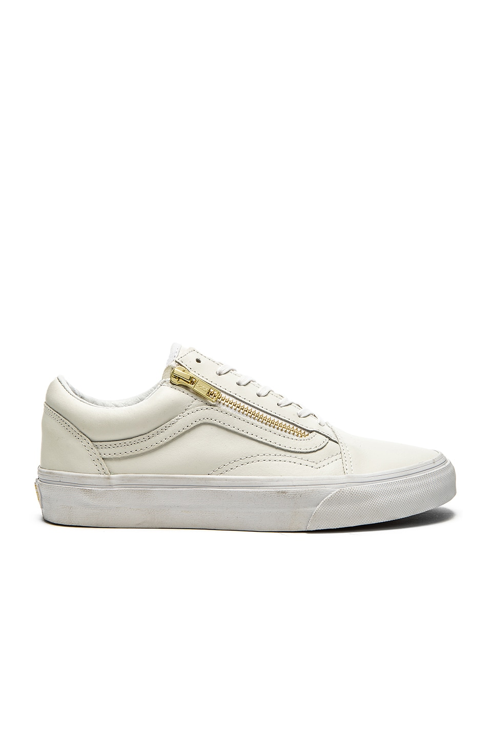vans old skool zip white gold
