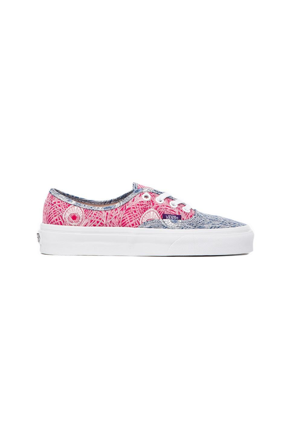 Vans Liberty Print Authentic in Peacock & True White