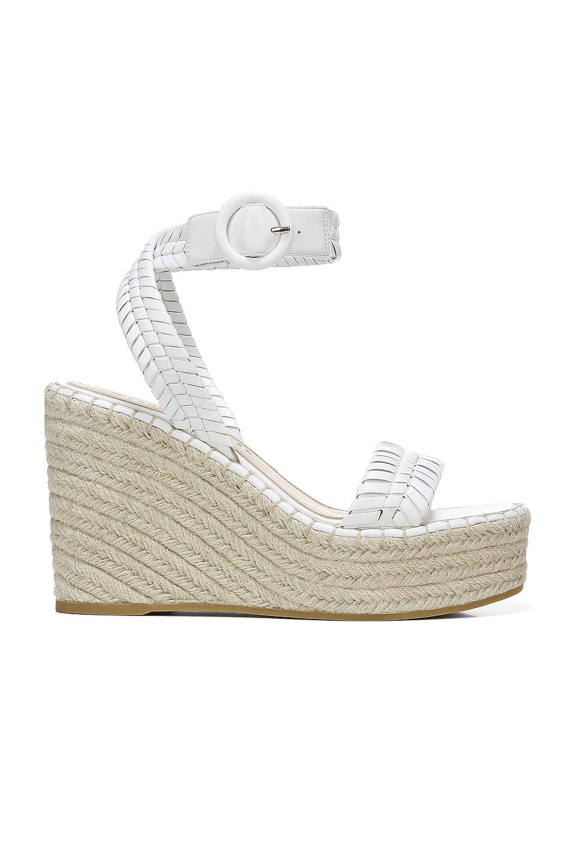 Veronica Beard Rilla Wedge Sandal in White
