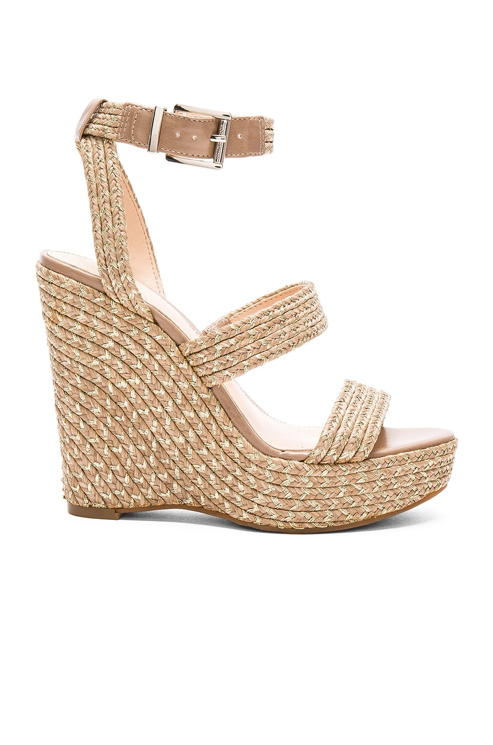 Vince Camuto Melisha Wedge in Nude and Gold