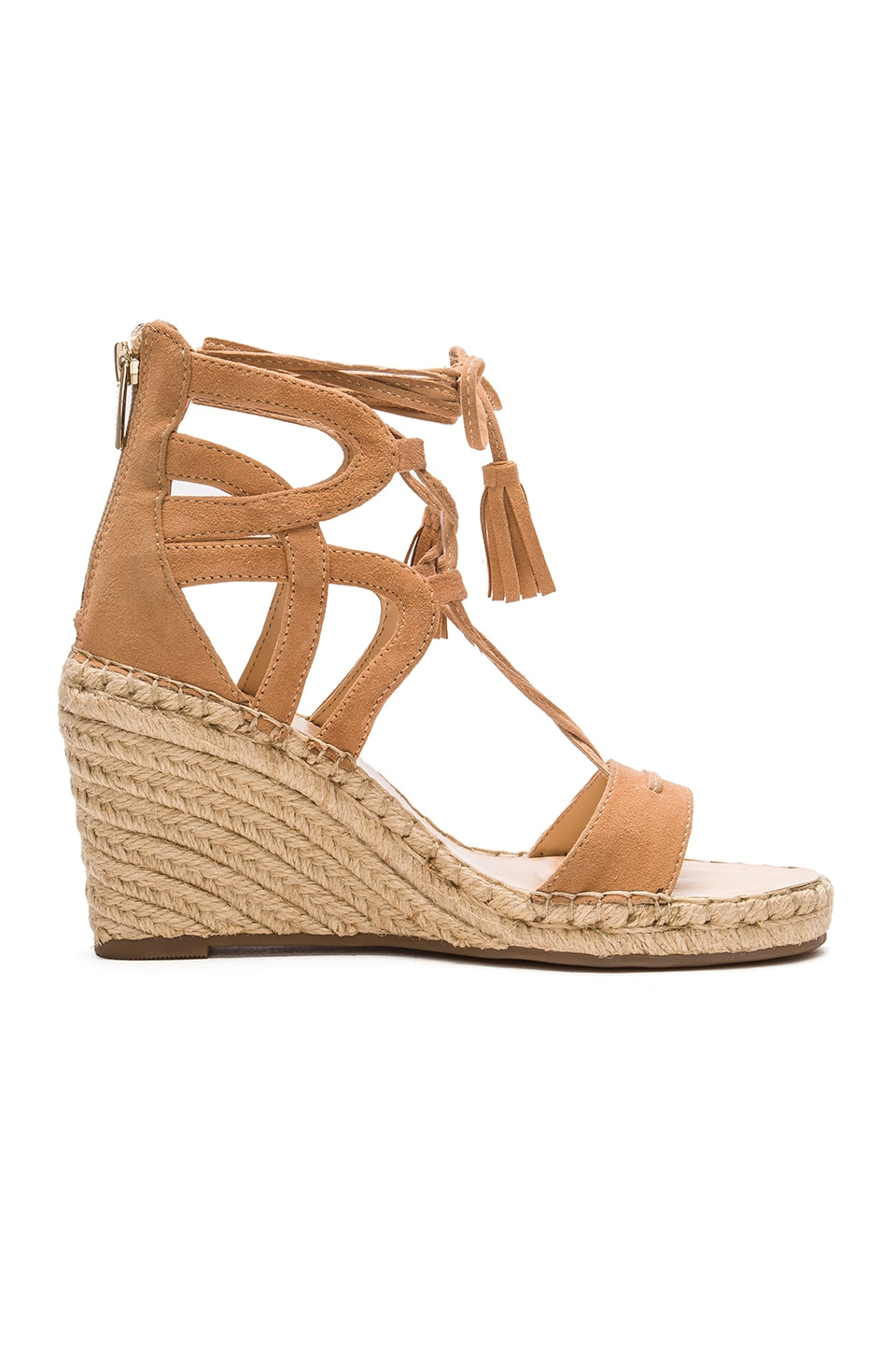 Vince Camuto Tannon Wedge in Buff Suede
