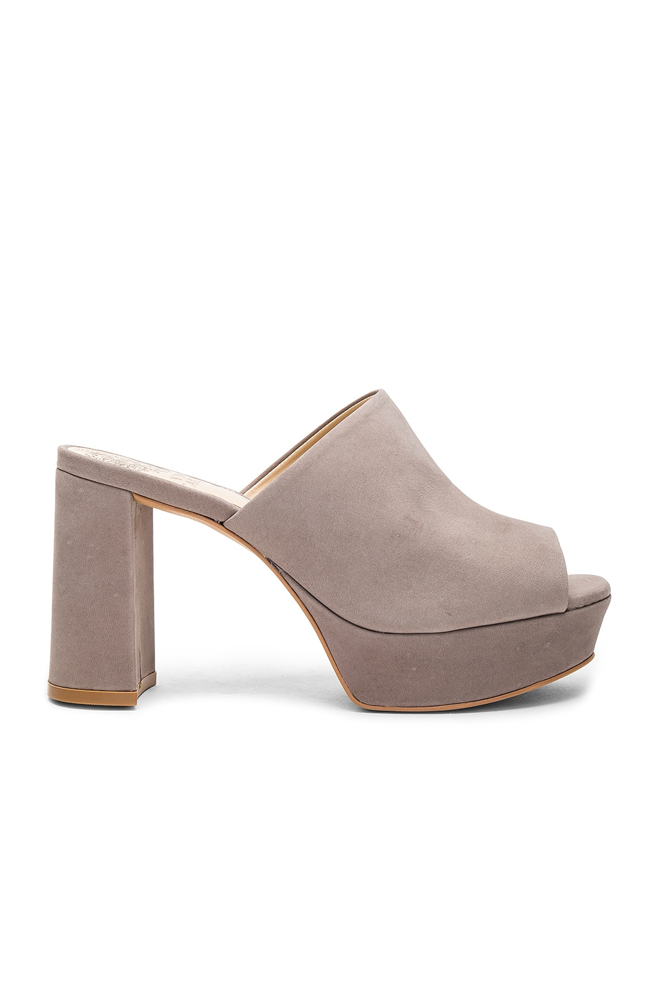 Vince Camuto Basilia Heel in Ancient Stone Oil Nubuck