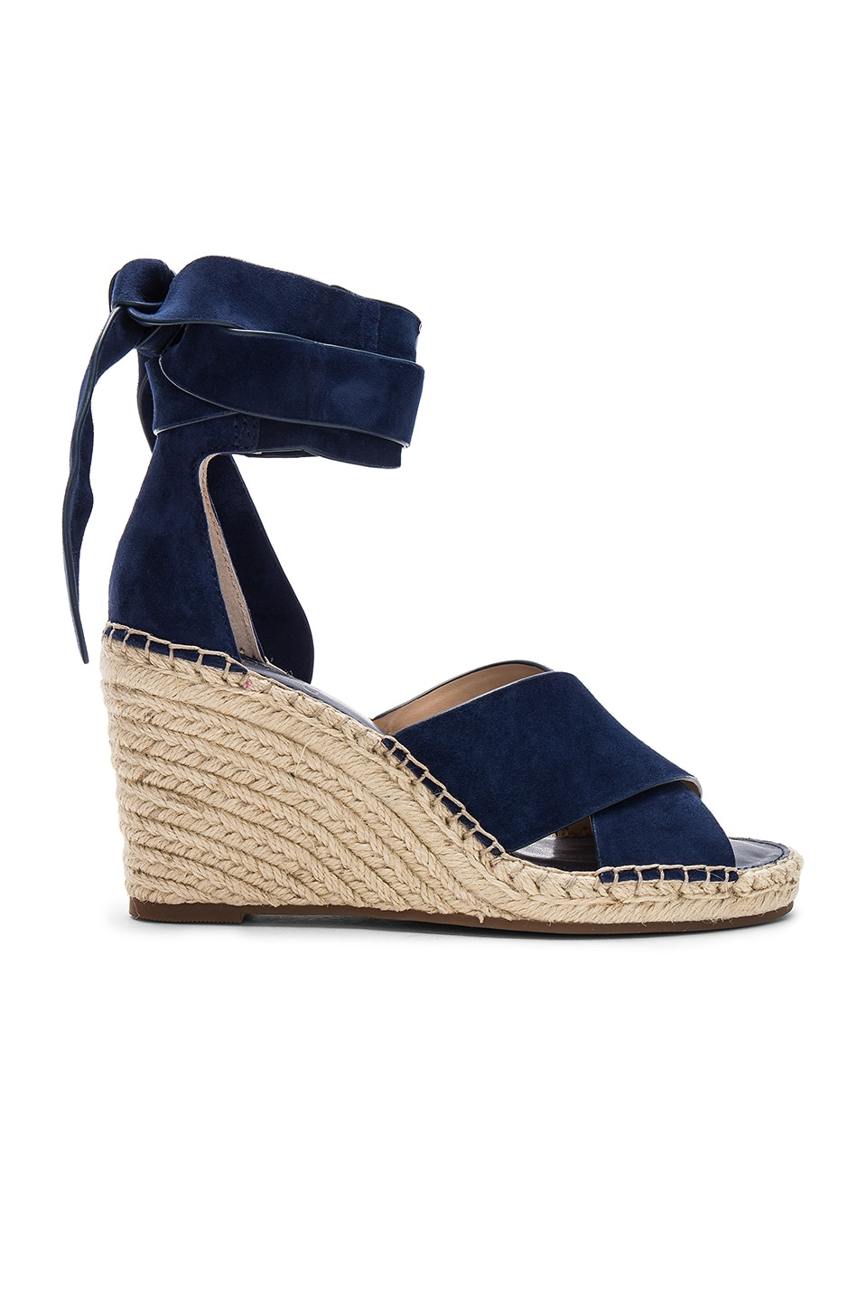 Vince Camuto Leddy Wedge in Midnight Suede