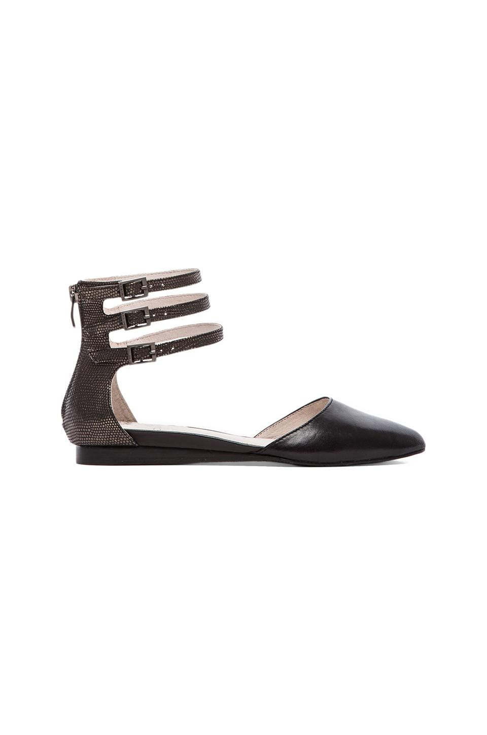 Vince Camuto Wiji Flat in Black & Pewter
