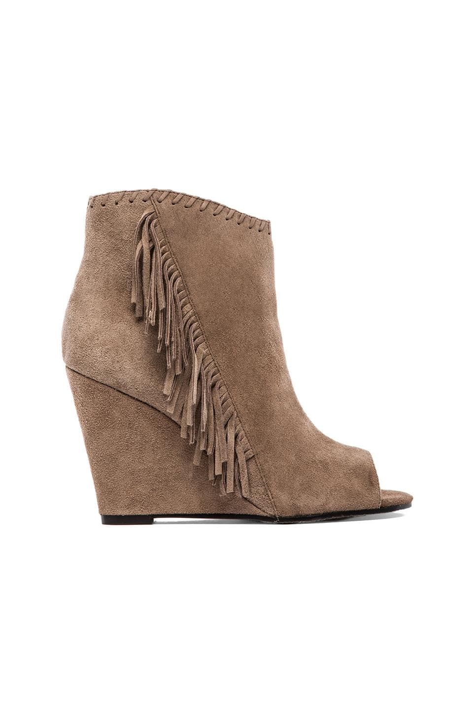 Vince Camuto Tecca Fringe Bootie in Smoke Taupe