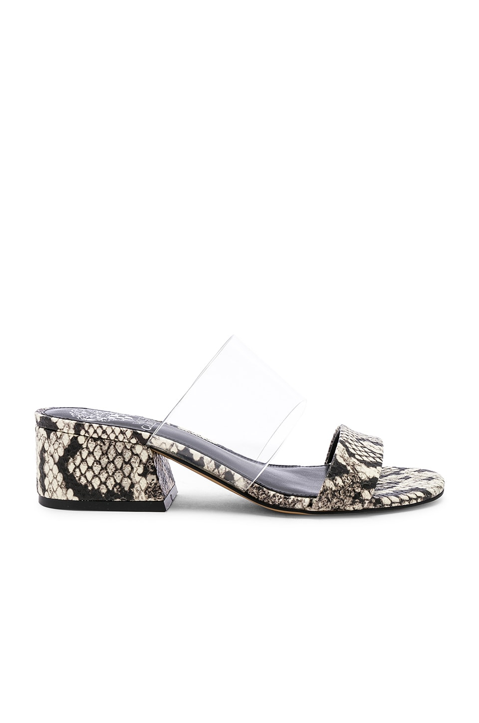Vince Camuto Caveera Sandal in Clear, Black & White