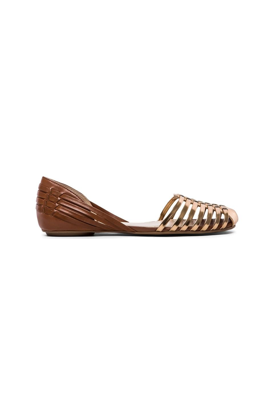 Vince Camuto Caprio Flat in Copper & Saddle