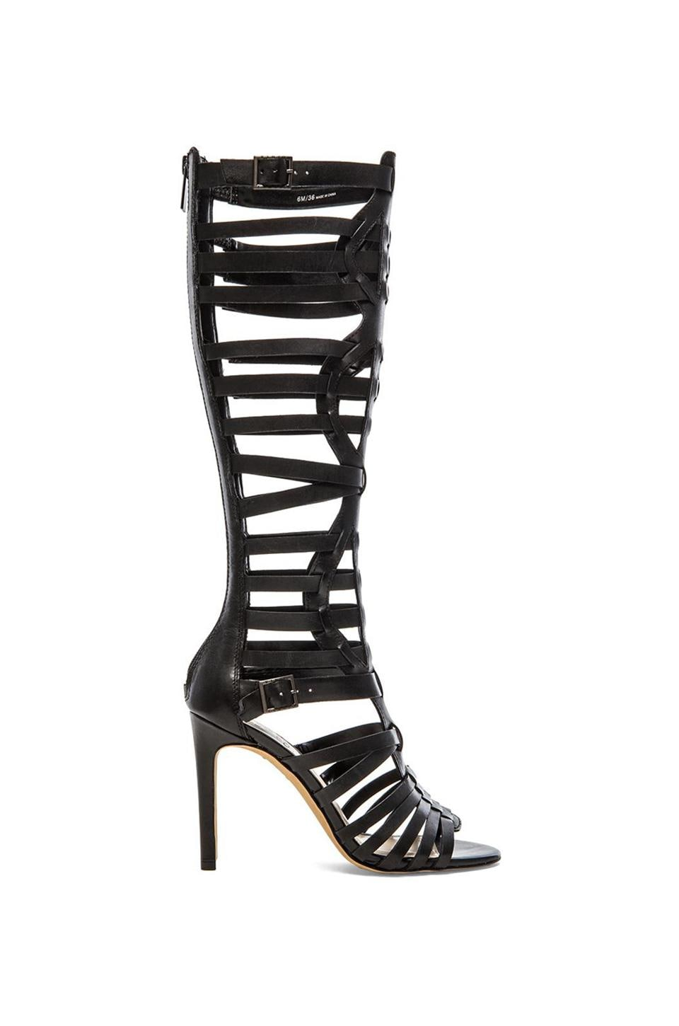 Vince Camuto Kase Smooth Calf Leather Heel in Black