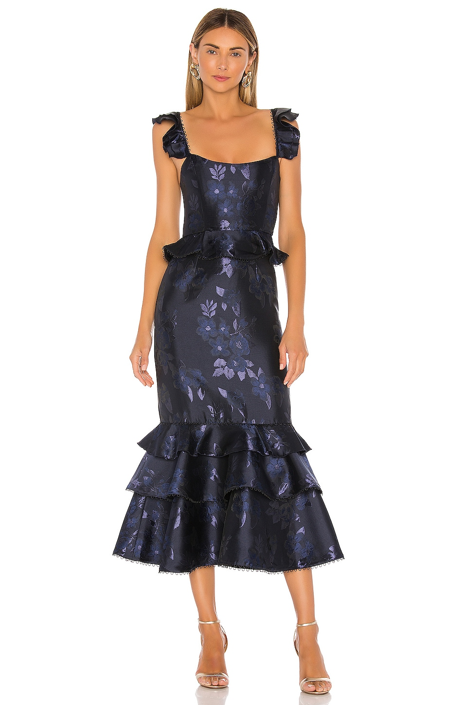 V. Chapman Violet Dress in Navy