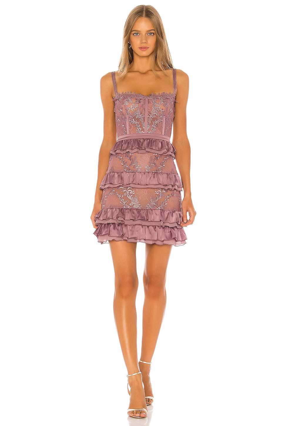 V. Chapman Peony Dress in Elderberry