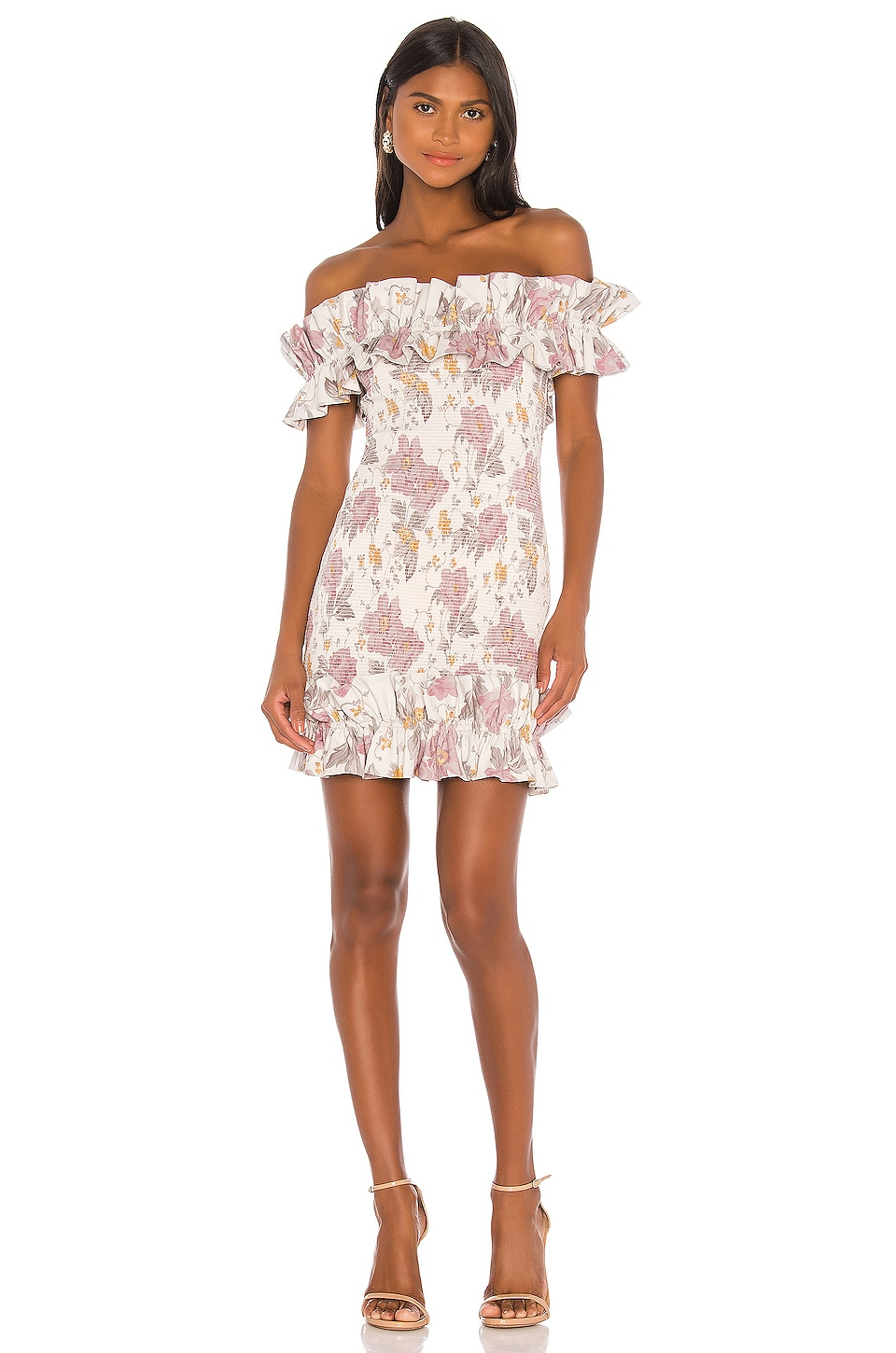 V. Chapman Flora Dress in Purple Floral