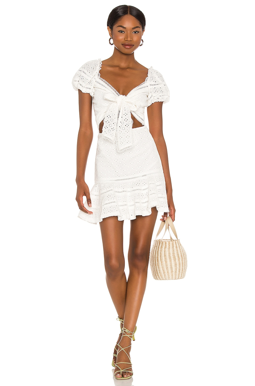 V. Chapman Praline Mini Dress in White