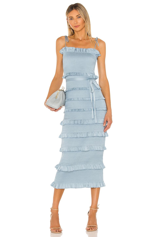 V. Chapman Lily Midi Dress in Cashmere Blue