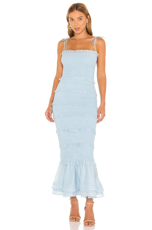V. Chapman Geranium Dress in Cashmere Blue