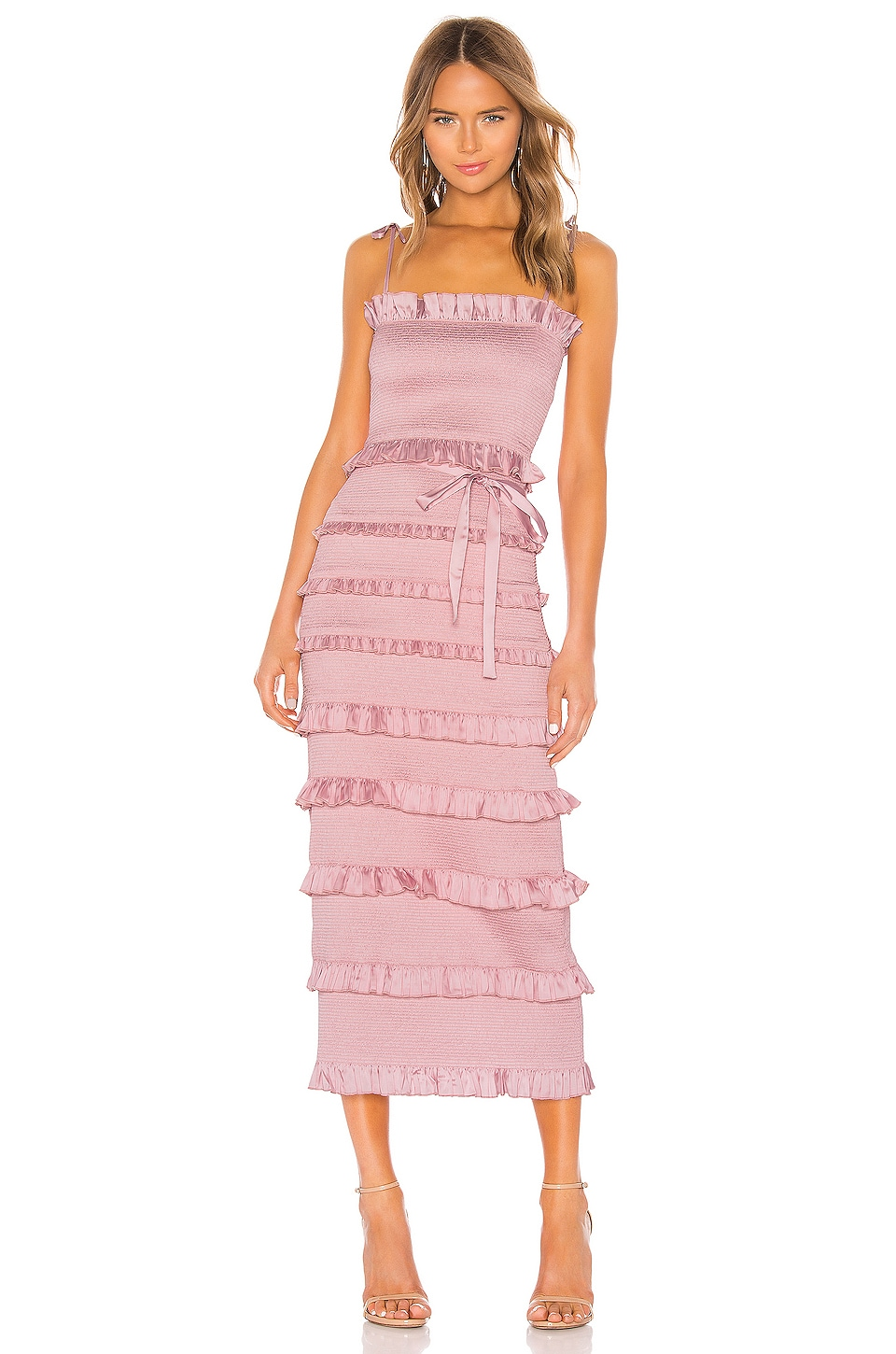 V. Chapman Lily Dress in Pink Parfait