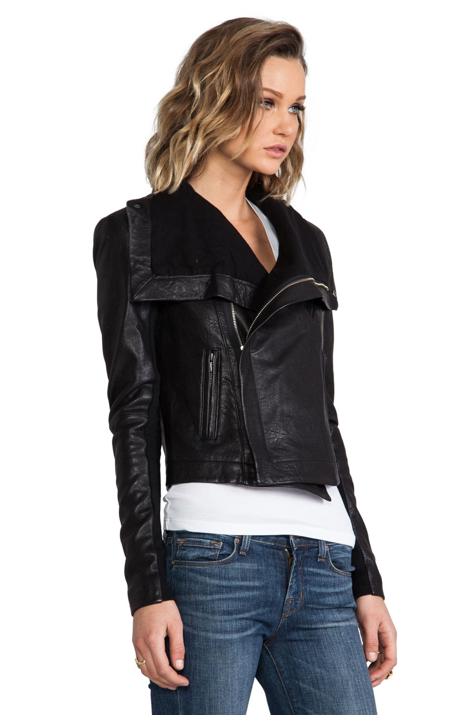 Veda Max Leather Jacket - Jacket