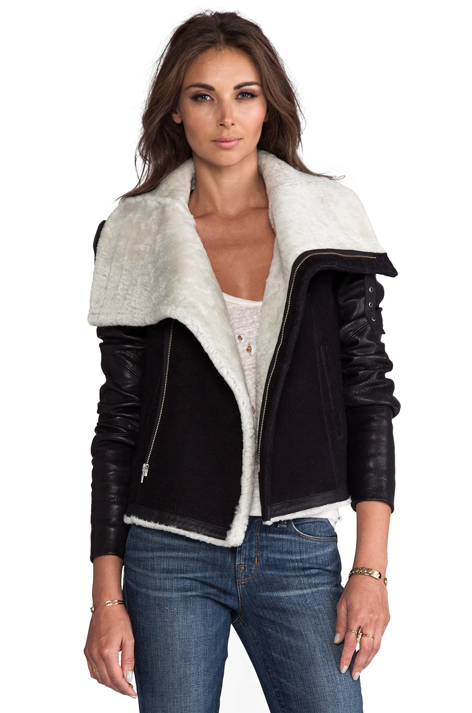 VEDA Mania Jacket in Black & White