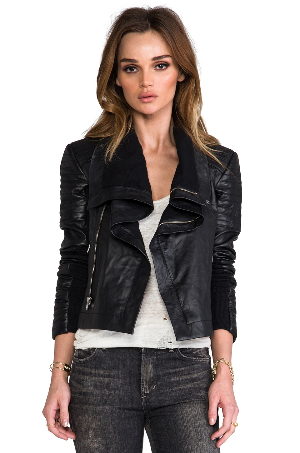 VEDA Max Moto Jacket in Black