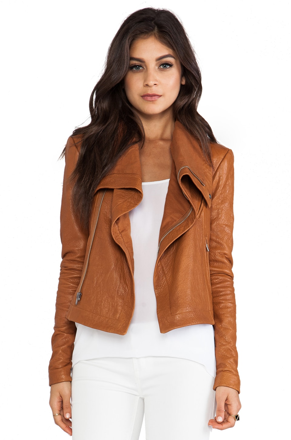 VEDA Max Classic Jacket in Tan